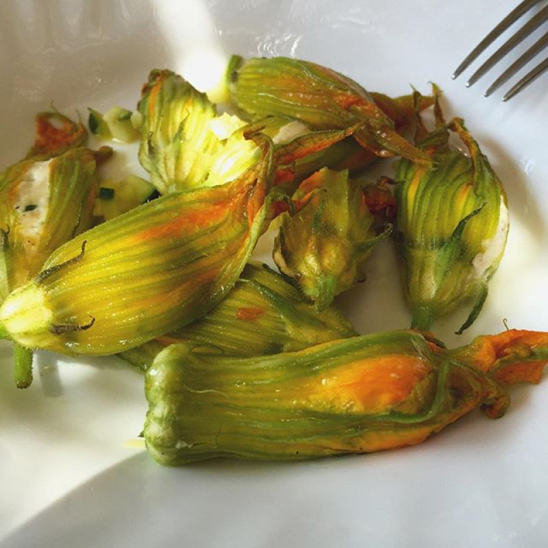 Le Pavillon de Galon - The stuffed courgettes flowers