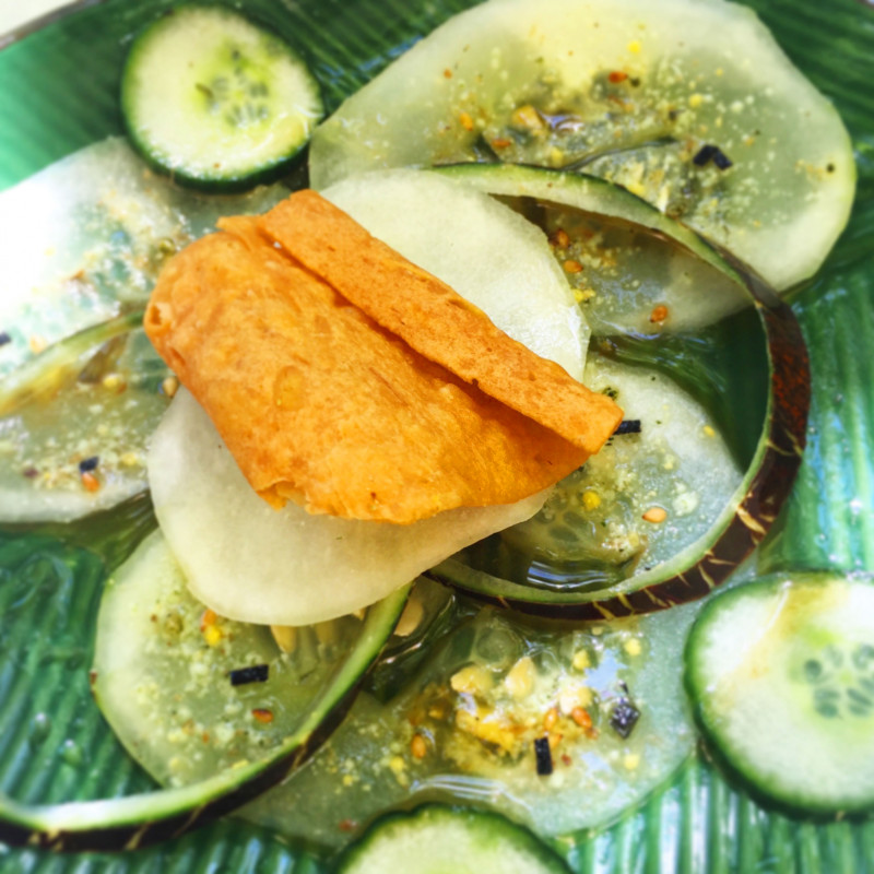 Le Pavillon de Galon - Marinated cucumbers in Japanese style